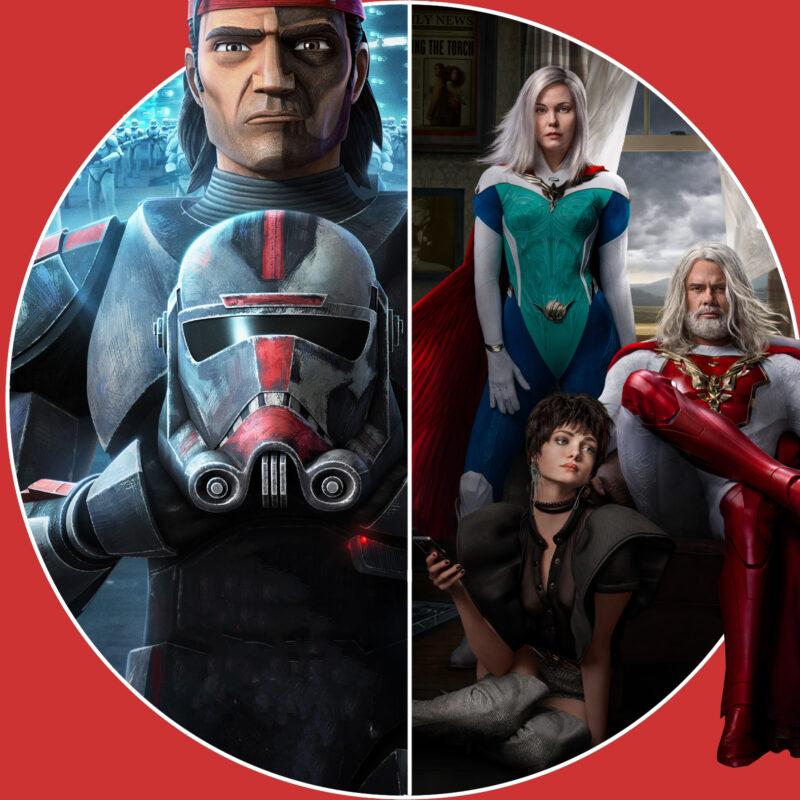 """Jupiter's Legacy"" (c) Netflix / ""Star Wars: The Bad Batch"" (c) Disney+"
