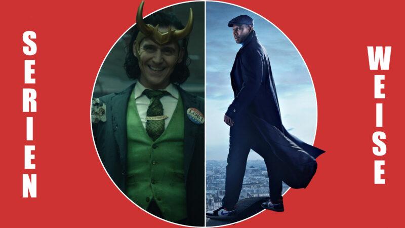 """""""Loki"""" (c) Disney+ / """"Lupin"""" (c) Netflix"""